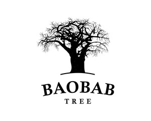 Line Art Baobab Tree Illustration Vintage Logo Vector