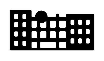 Tokyo landmark building / architecture illustration (Fuji television building)