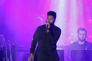 "Khalid performs during the 2018 Pre-GRAMMY Gala & GRAMMY Salute to Industry Icons presented by Clive Davis and The Recording Academy honoring Shawn ""JAY-Z"" Carter in Manhattan, New York"