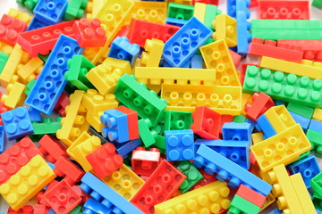 カラフルなブロックの背景素材 Colorful block Background