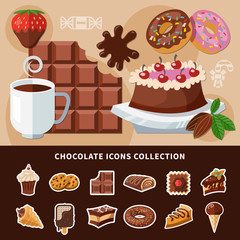 Chocolate Flat Icons Collection