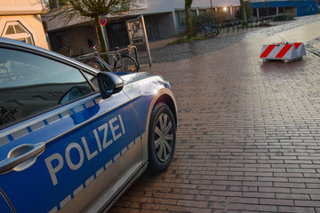 Christmas market and carnival with police protection