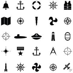 navy icon set