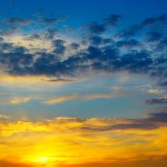 Beautiful sun rise and cloudy sky.