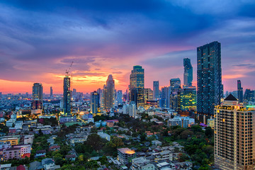 Modern building increasing number in Bangkok