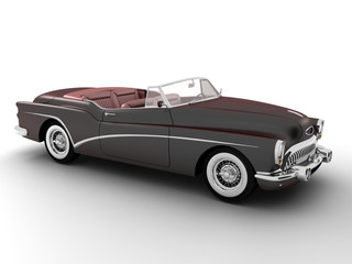 3d render isolate on white background classic car.
