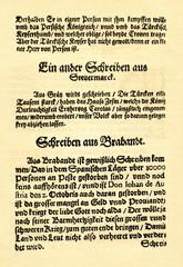 The first newspaper in Berlin, released by Michael Hentzken, 1578 (from Spamers Illustrierte  Weltgeschichte, 1894, 5[1], 472/473)