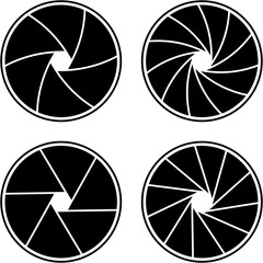 closed aperture with 6/11 blades and different styles