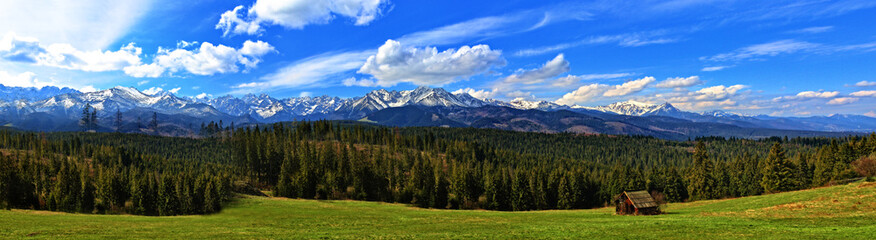 Beautiful panowama on the Polish Tatras