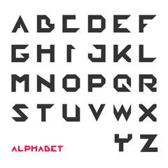 Geometrical font, Modern futuristic typography, vector illustration