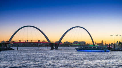 Elizabeth Quay Ferry at Sunset