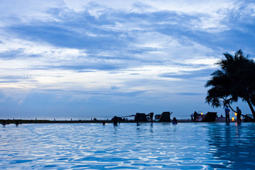 Ahungalla, Sri Lanka - Enjoying the twilight hour at the beach