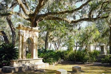 Printed kitchen splashbacks Cemetery Historic Bonaventure Cemetery in Savannah Georgia USA