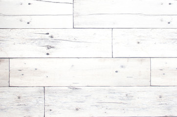 Old and Vintage white wooden texture background and pattern
