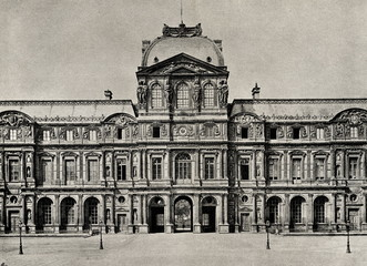Western facade of the Louvre Palace around 1890 (from Spamers Illustrierte  Weltgeschichte, 1894, 5[1], 492/493)