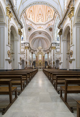 Inside of Our Lady of Consuelo church.