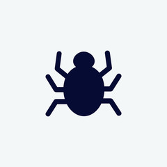 spider icon, vector illustration. scary icon vector