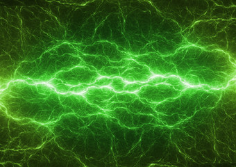 Green energy, plasma lightning, power and electrical background