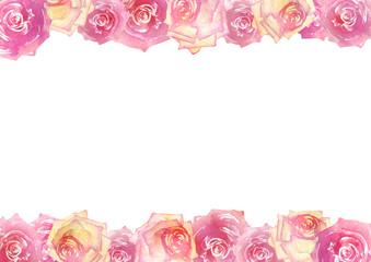 薔薇 背景フレーム