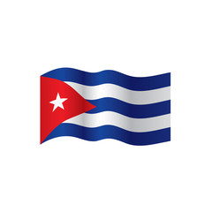 Cuba flag, vector illustration