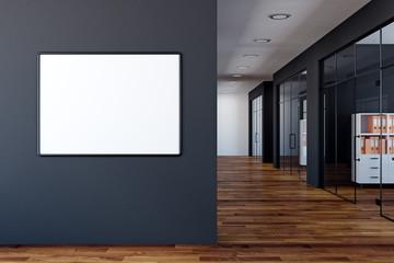 Modern office with empty billboard