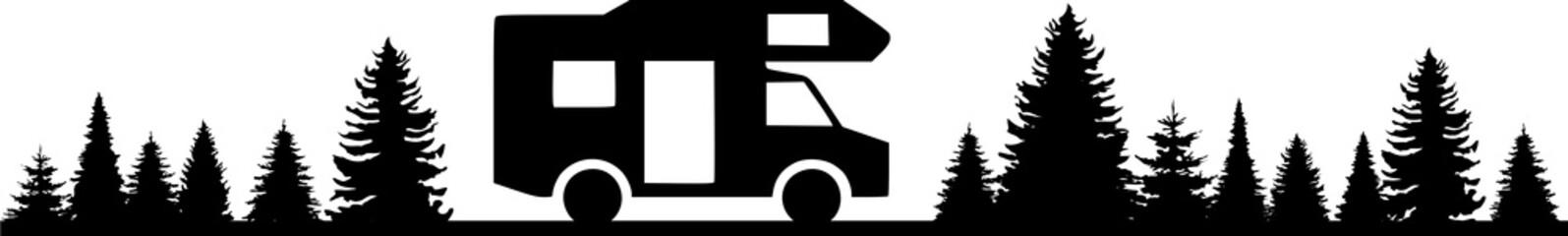 Silhouette Wohnwagen