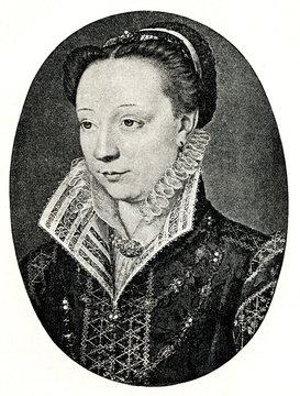 Portrait of Catherine de' Medici by Jean Clouet (from Spamers Illustrierte  Weltgeschichte, 1894, 5[1], 516)