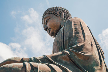 Tian Tan Buddha, Big buddha - the world's tallest outdoor seated bronze Buddha located in Nong ping Hong Kong.