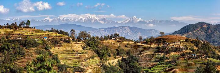 Photo sur Toile Népal Landscape East of Kathmandu, Nepal