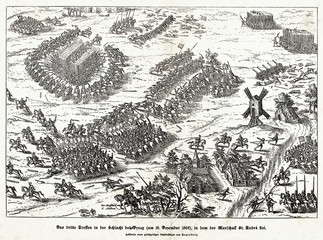 Final phase of the battle of Dreux with murdering of Marshal Saint-André, 19 December 1562 (from Spamers Illustrierte  Weltgeschichte, 1894, 5[1], 522/523)