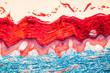 Haut Gewebe unter dem Mikroskop 100x