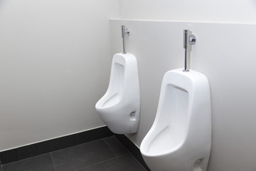 white toilet in modern home