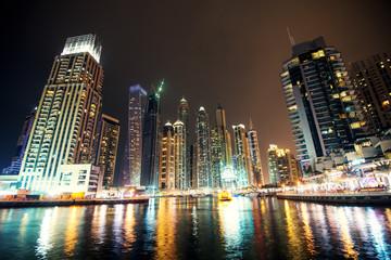 Dubai night cityscape.