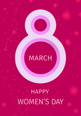 International women's day greeting card