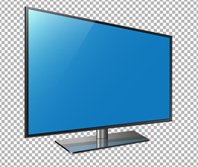 Curved tv. 4k Ultra HD screen, led television isolated transparancy background