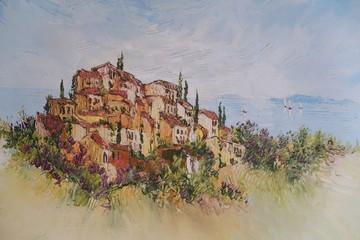 Mediterranean village landscape