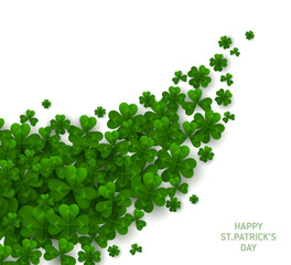 Patrick Day Diagonal Border with Clover