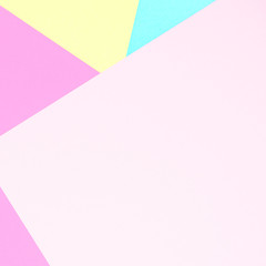 Abstract pastel colored paper texture minimalism background. Minimal geometric shapes and lines in pastel colours.