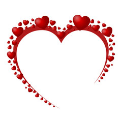 Beautiful red hearts - stock vector