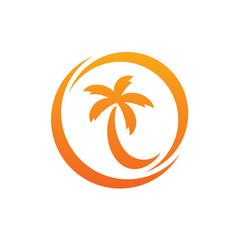 Coconut Tree Circle Logo