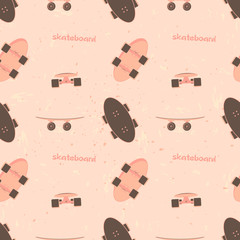 pattern with a skateboard image.