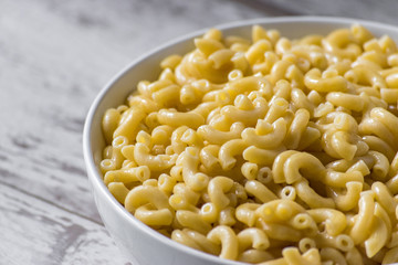 macaroni and cheese noodles in dish