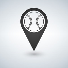 baseball marker path pin vector illustration