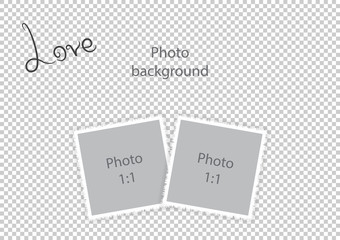 Romantic photo frame for lovers