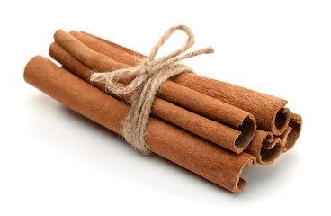 Bundle of сinnamon sticks