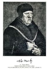 Saint Thomas More, portrait of Hans Holbein the Younger (from Spamers Illustrierte Weltgeschichte, 1894, 5[1], 577)