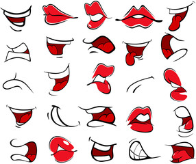 Illustration of a Set of Mouths