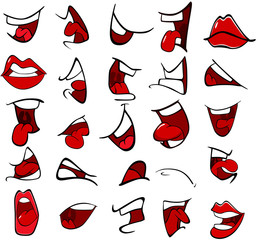 Illustration of a Set of Mouths