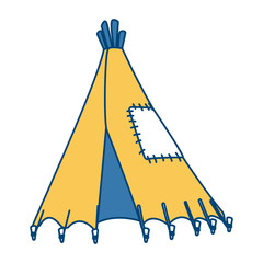 Indian tent isolated icon vector illustration graphic design