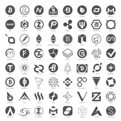Black Icons - Cryptocurrency